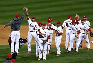 Cards Celebrate Game 4 win