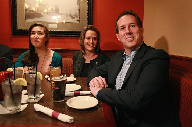 GOP Presidential Candidate Rick Santorum Campaigns