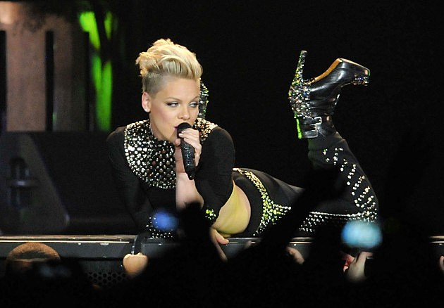Pink performs November 11 at the Scottrade Center in St. Louis
