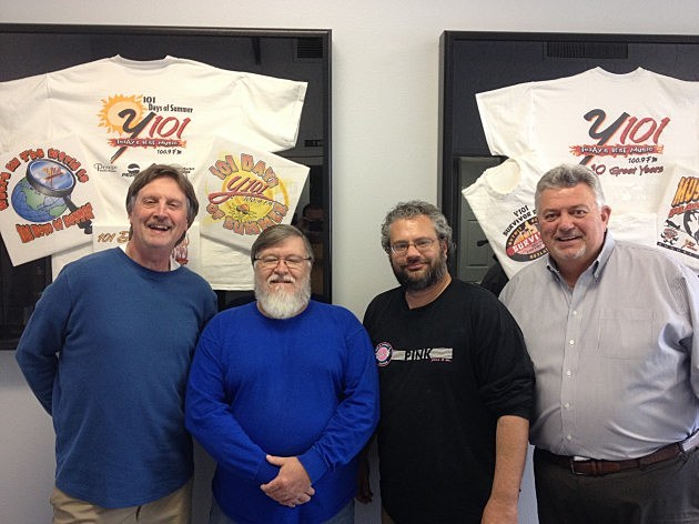 Wes Leffert with Y101 staff