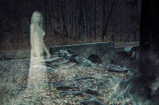 Ghost Woman in Forest