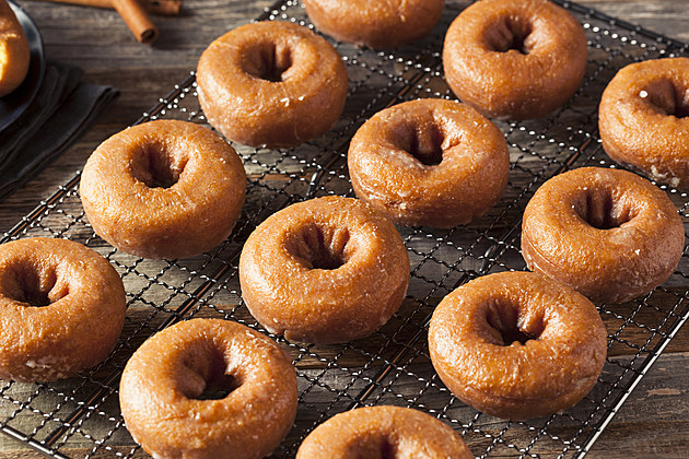 Homemade Glazed Autumn Pumpkin Donuts